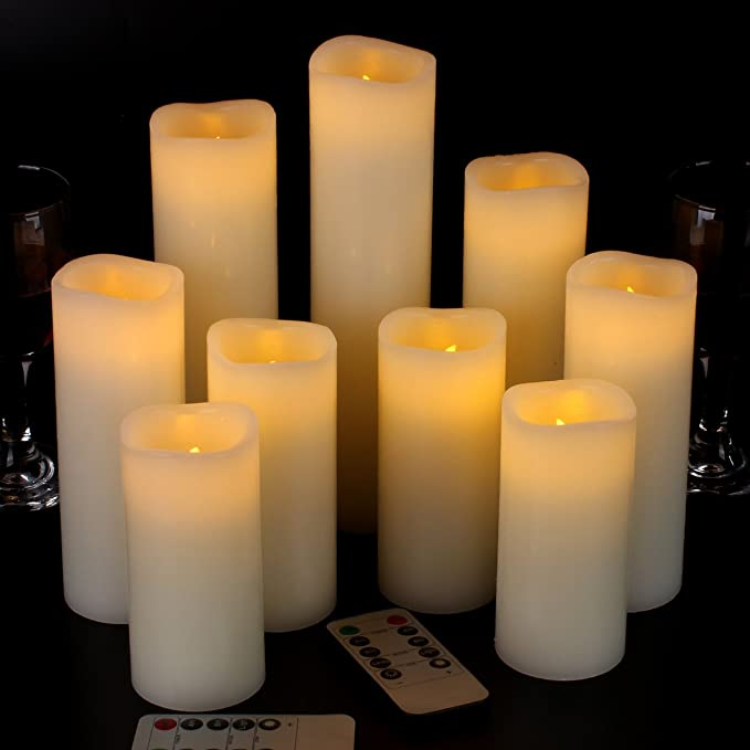 thanksgiving decor battery operated candle