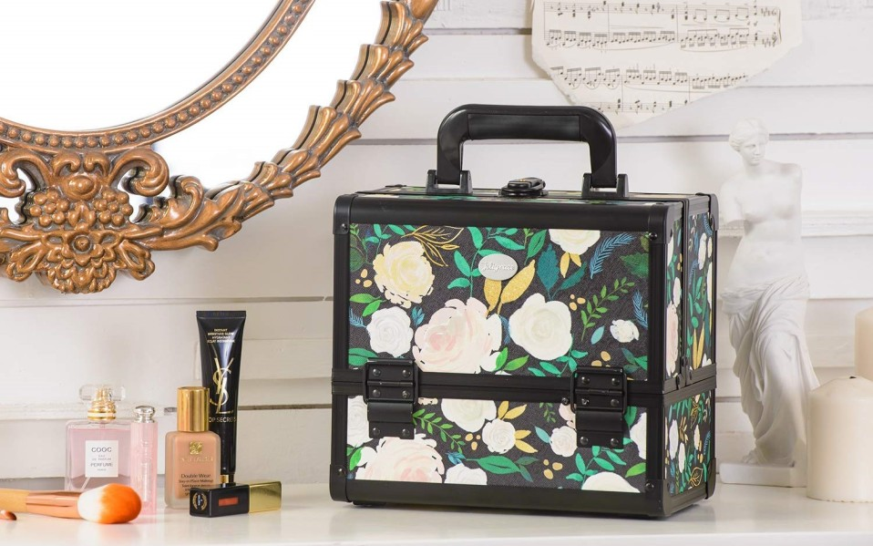 best vanity suitcases makeup