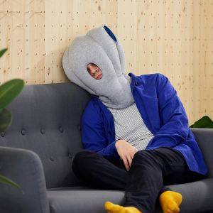How to Nap Anywhere Ostrich Pillow