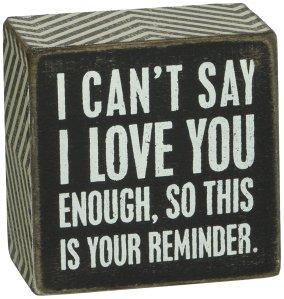 I Love You Box Sign