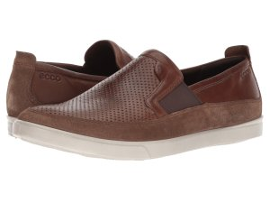 Brown Slip-On Sneakers