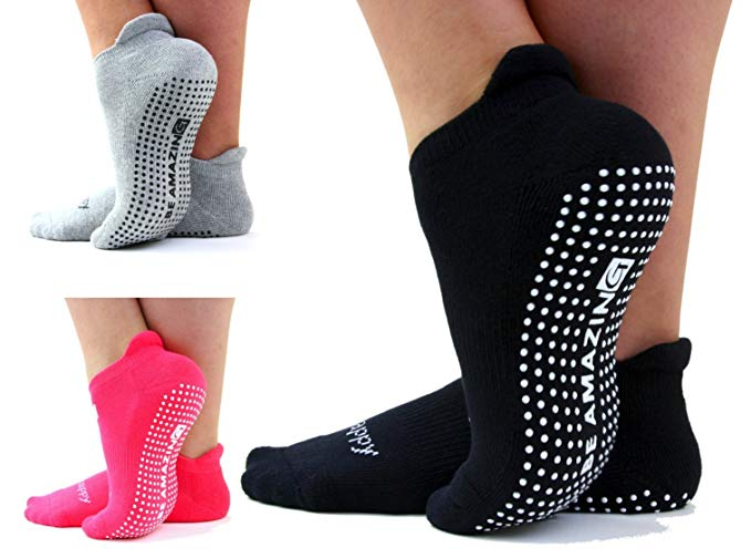 barre socks best sticky workout live happy be healthy yoga nonslip grip