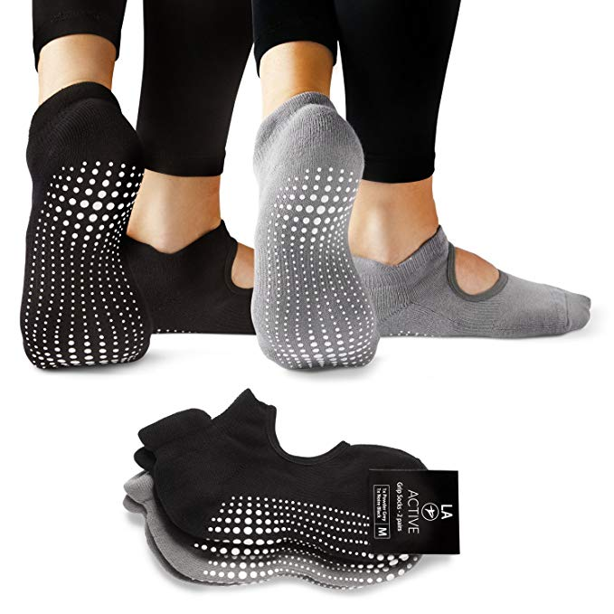 barre socks best sticky workout la active grip nonslip yoga