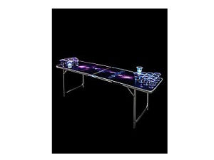 Glowing Galaxy Beer Pong Table