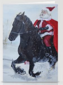 Santa Rides Stationery Cards