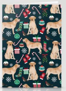 Yellow Labrador Retriever Holiday Card