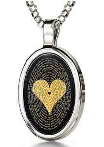 Love Necklace Inscribed with I Love You in 120 Languages