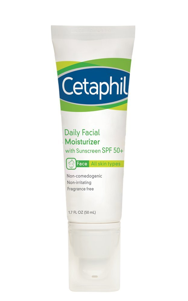 Cetaphil Daily Facial Moisturizer with Sunscreen SPF 50+, best moisturizers for men