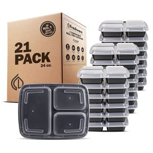 Freshware Meal Prep Containers (Set of 21) Amazon