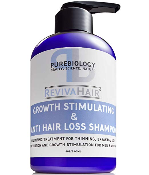 thinning hair stimulating scalp products hair loss pure biology growth stimulating anti shampoo revivahair