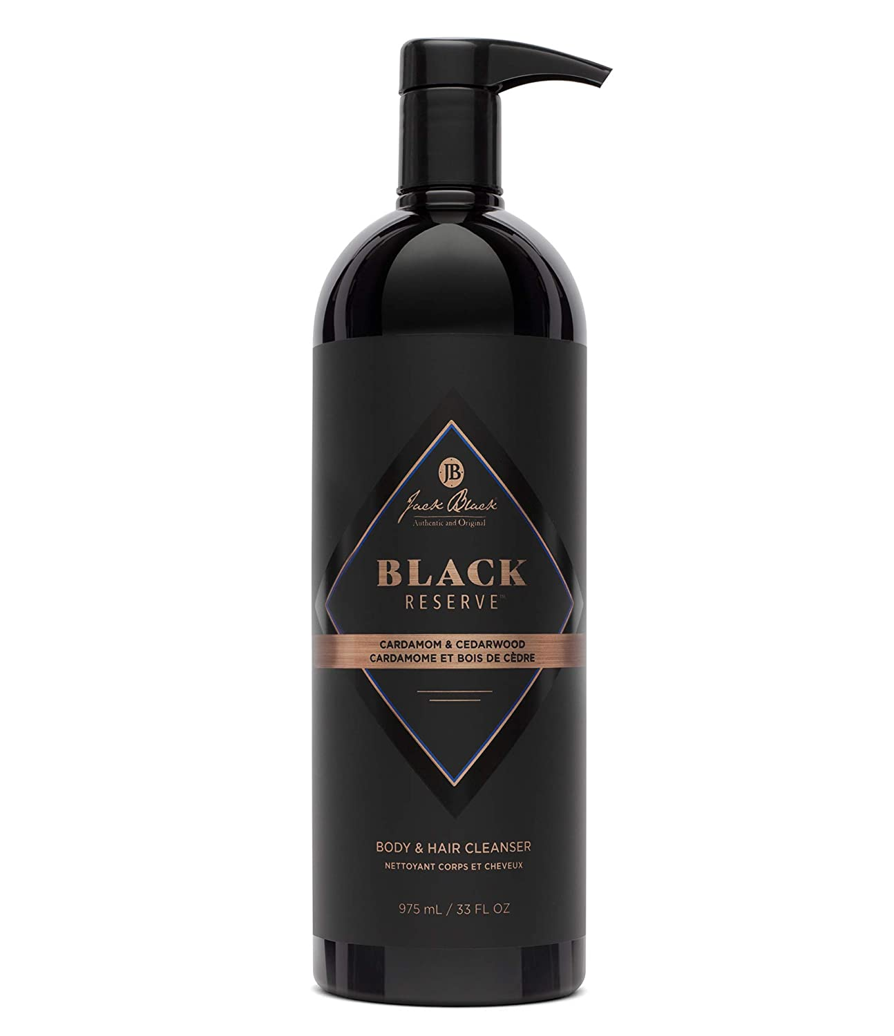 jack black black reserve body and hair cleaner with cardmom, cedarwood, 33 fluid ounces; best shampoos for men
