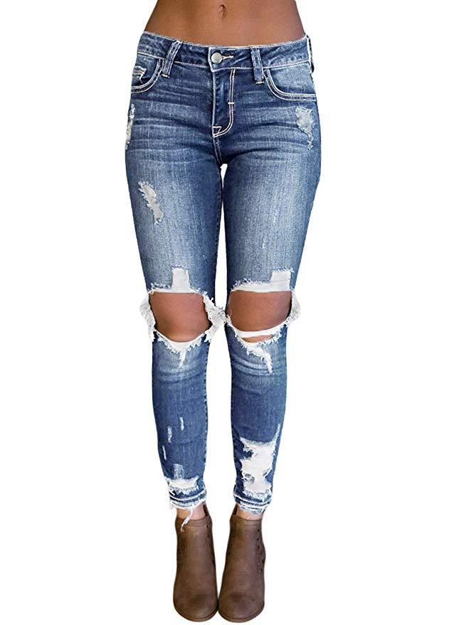 best ripped jeans amazon under 30 dokotoo destroyed skinny slim skinny destressed