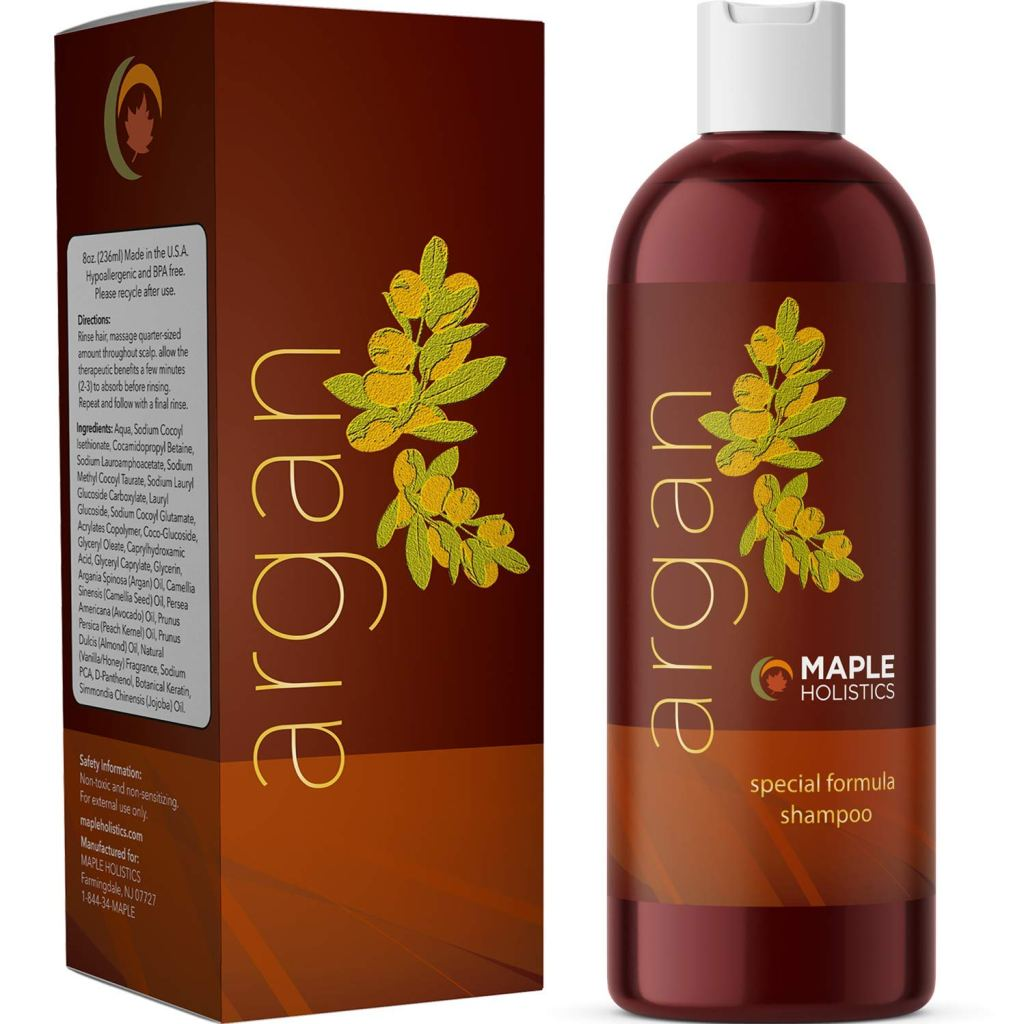 maple holistics pure argan oil shampoo