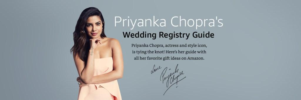 Priyanka Chopra Nick Jonas Wedding Registry