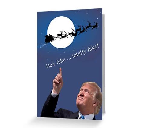 Trump fake santa card