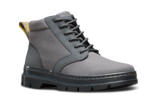 Grey Combat Boots Dr. Martens