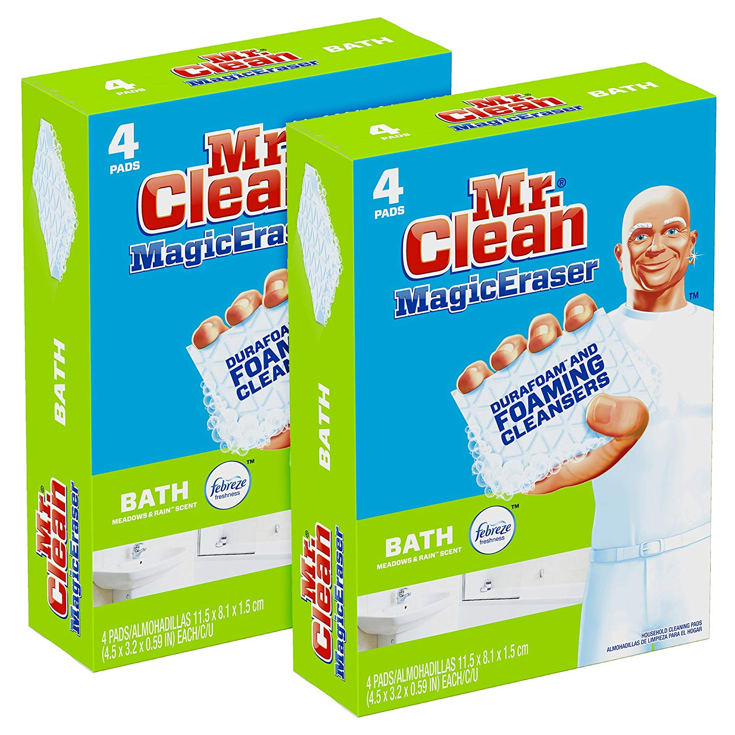 how to clean soap scum hard water stains mr clean magic erasers bath