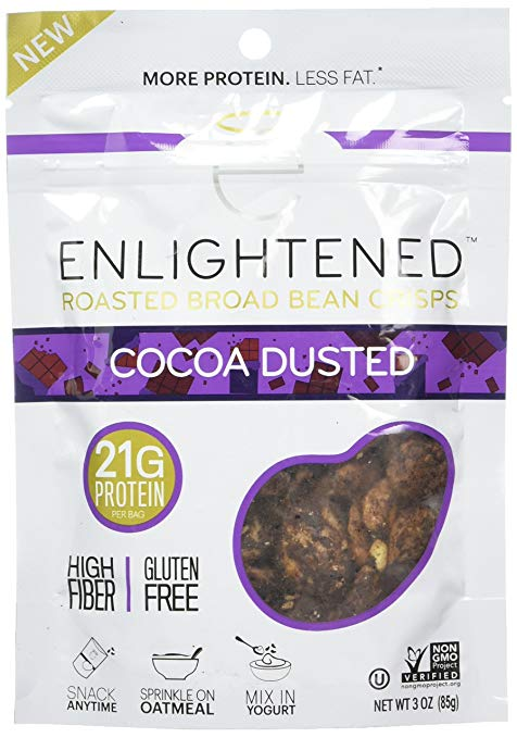 best healthy snacks alternatives enlightened cocoa dusted roasted broad bean crisps m&ms