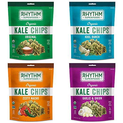 best healthy snacks alternatives rhythm superfoods kale chips variety pack doritos