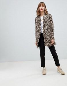 Stradivarius leopard print coat Asos
