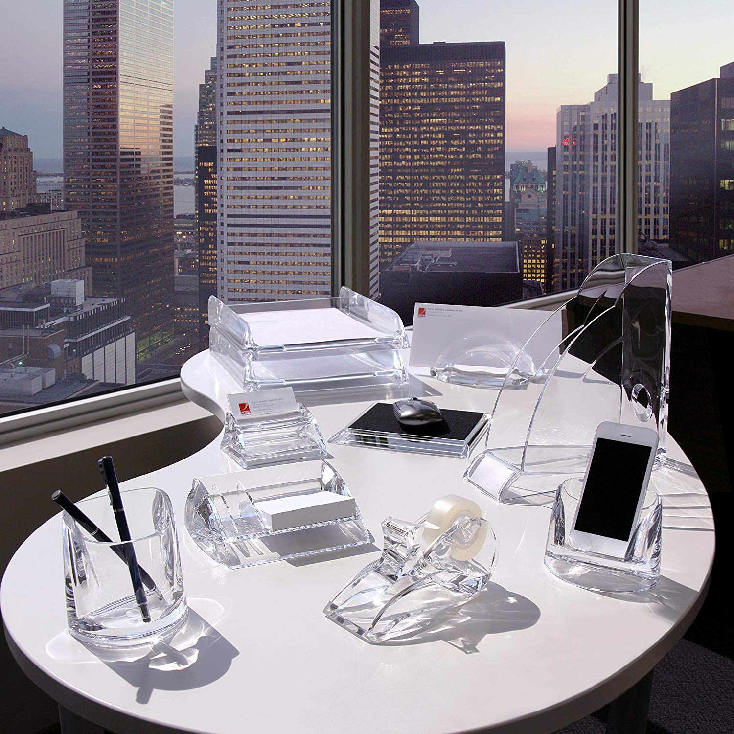 Crystal phone stand