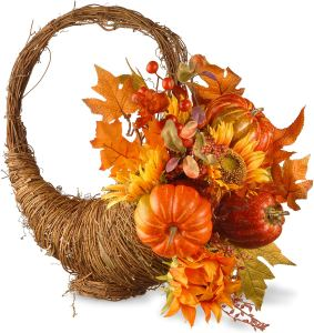 thanksgiving hosting cornucopia centerpiece