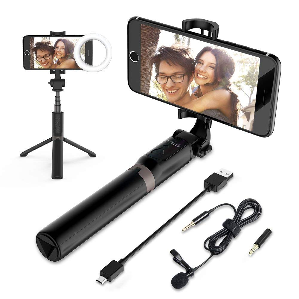 travel essentials selfie stick tripod