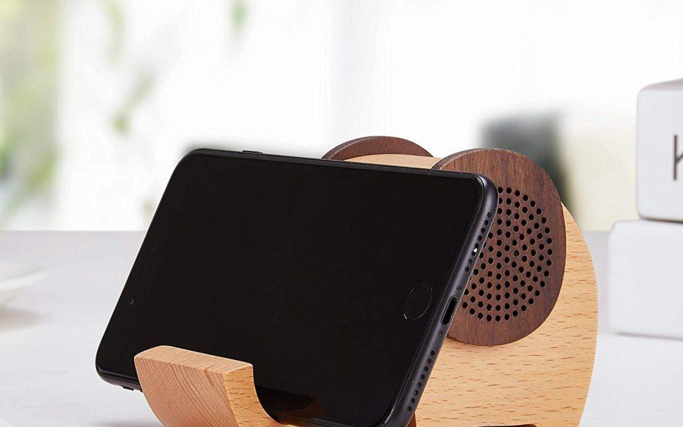 wooden elephant bluetooth speaker