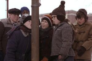 Christmas Story Pole Licking