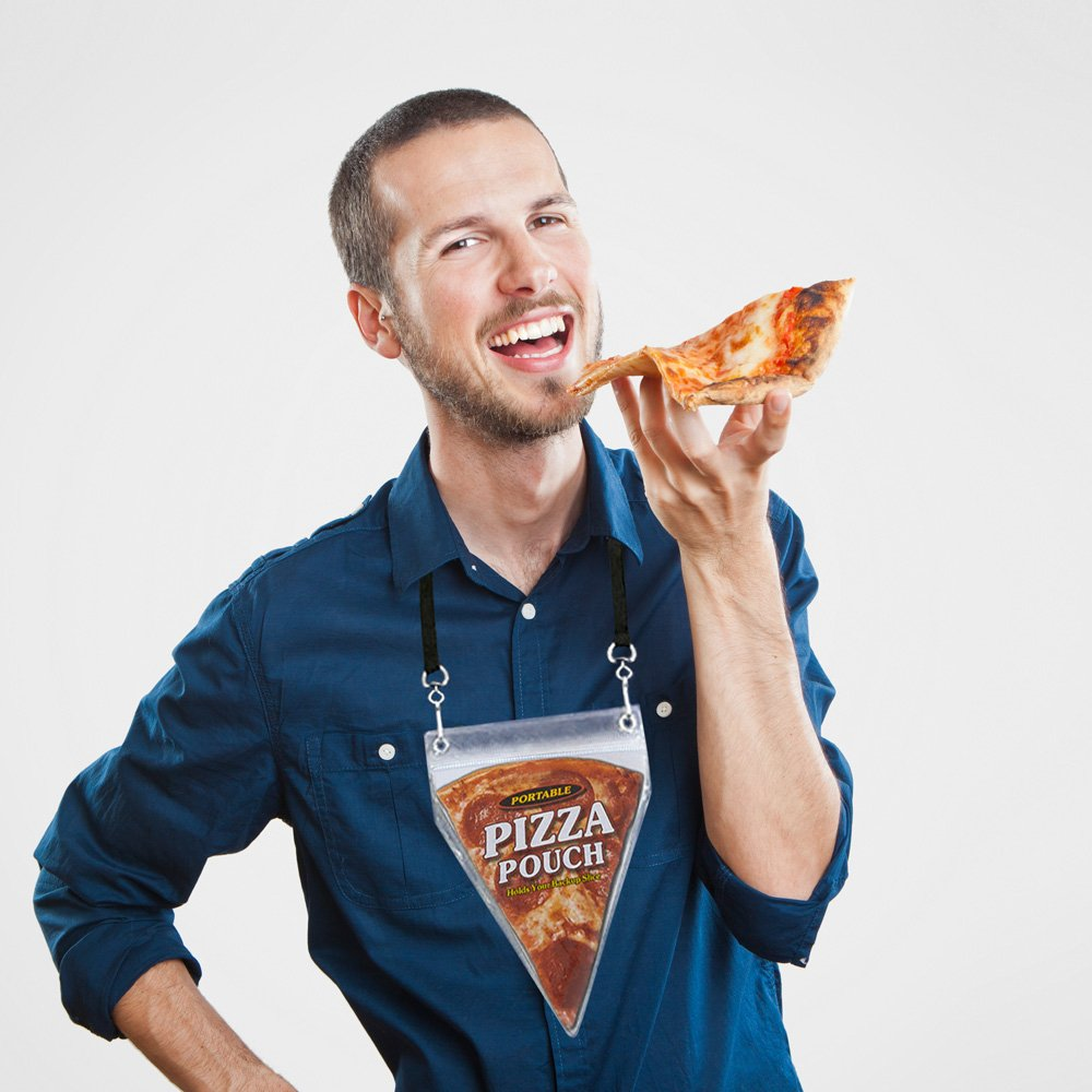 Pizza pocket neck pouch