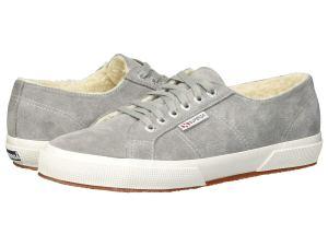 Grey Sneakers Fleece Lining