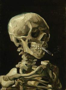 Skull Painting Van Gogh Poster