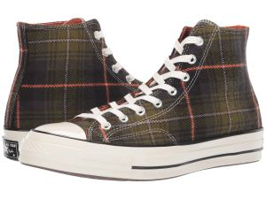 Plaid Sneakers Converse High Top