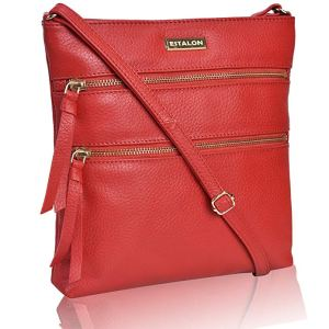 Red Bag Leather Crossbody