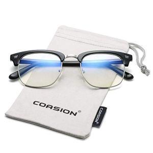 COASION Vintage Blue Light Blocking Clear Glasses