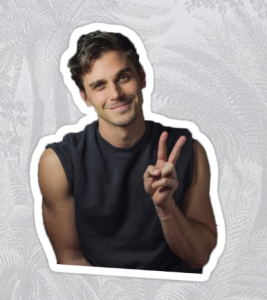 Antoni Peace Sign Sticker