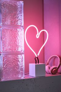 Heart Neon Sign Table Lamp Urban Outfitters