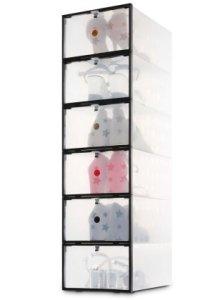 Miusco Clear Foldable Shoe Storage Boxes Amazon