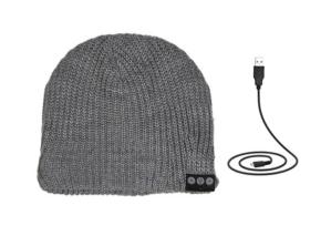 Gray Beanie Bluetooth Headphones