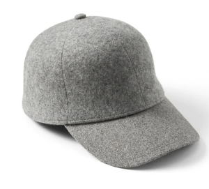 Grey Baseball Hat Wool