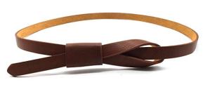 Brown Leather Belt Skinny Women's