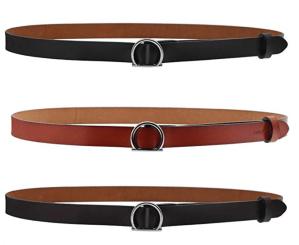 Skinny Leather Belts Women's