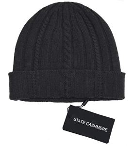 State Cashmere Cashmere Cable Knit Beanie Hat