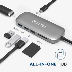 USB C Hub, HooToo USB C Adapter