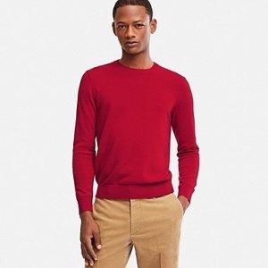 Uniqlo Men Cashmere Crew Neck Long-Sleeve Sweater