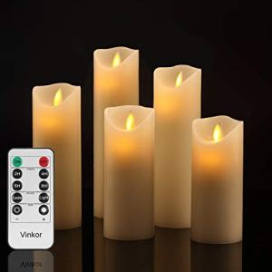 Vinkor Flameless Candles Battery Operated Candles Amazon