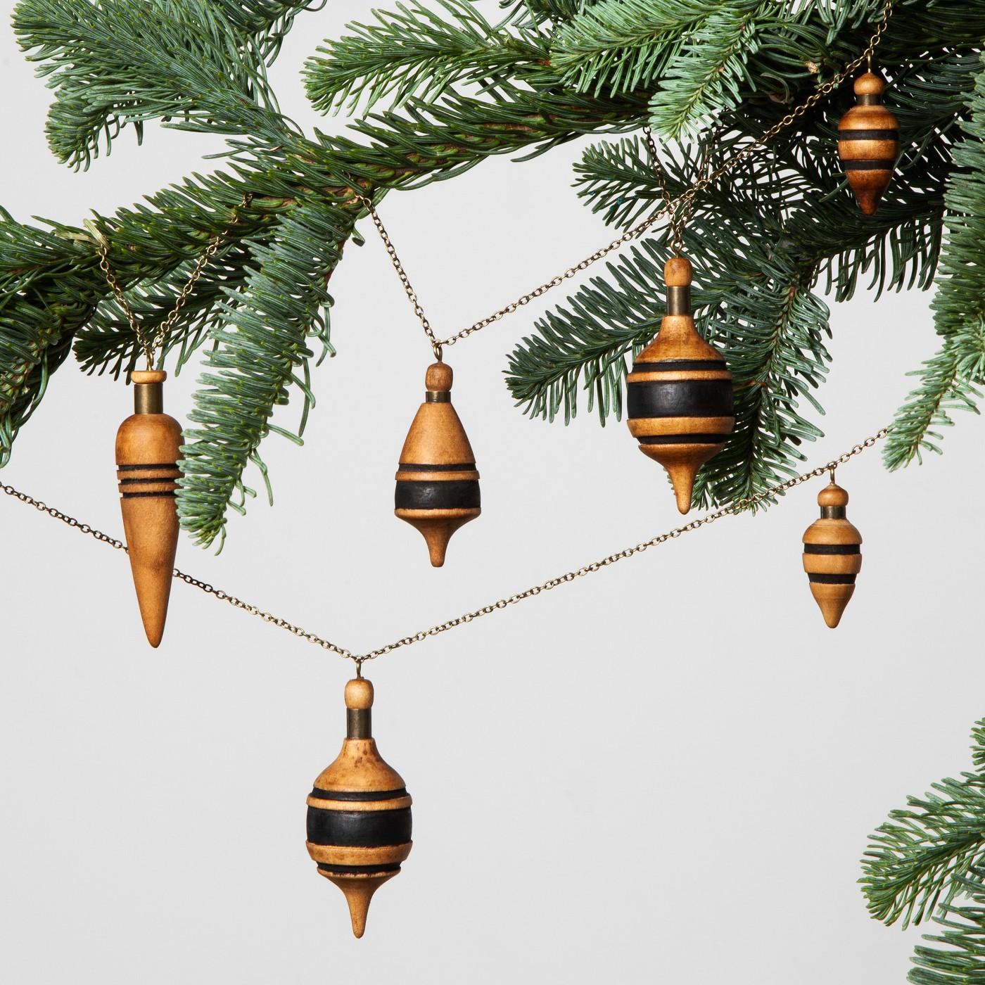 best holiday decor wooden garland