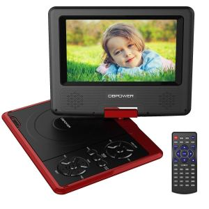 DBPOWER 7.5-Inch Portable DVD Player with Rechargeable Battery