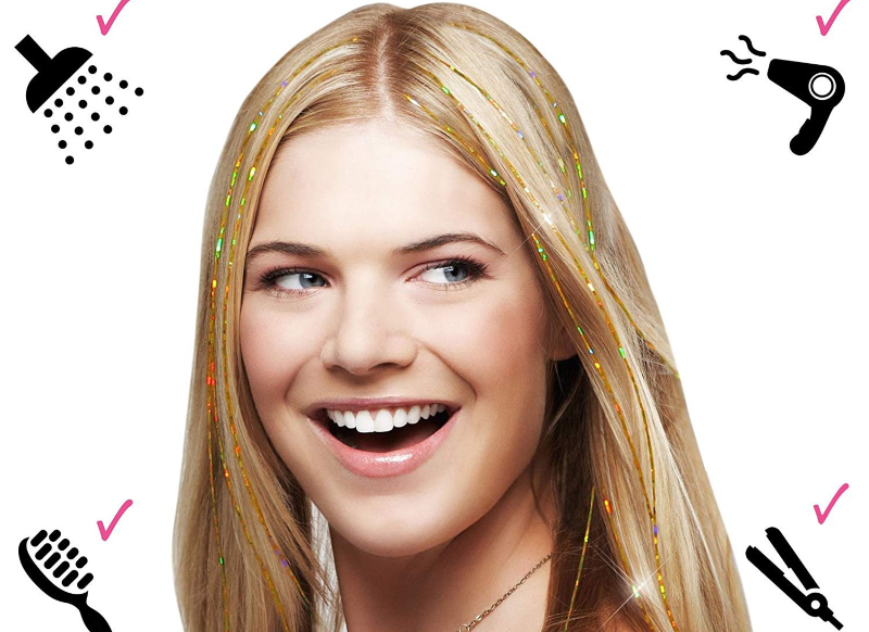 Hair Tinsel Beauty Trend