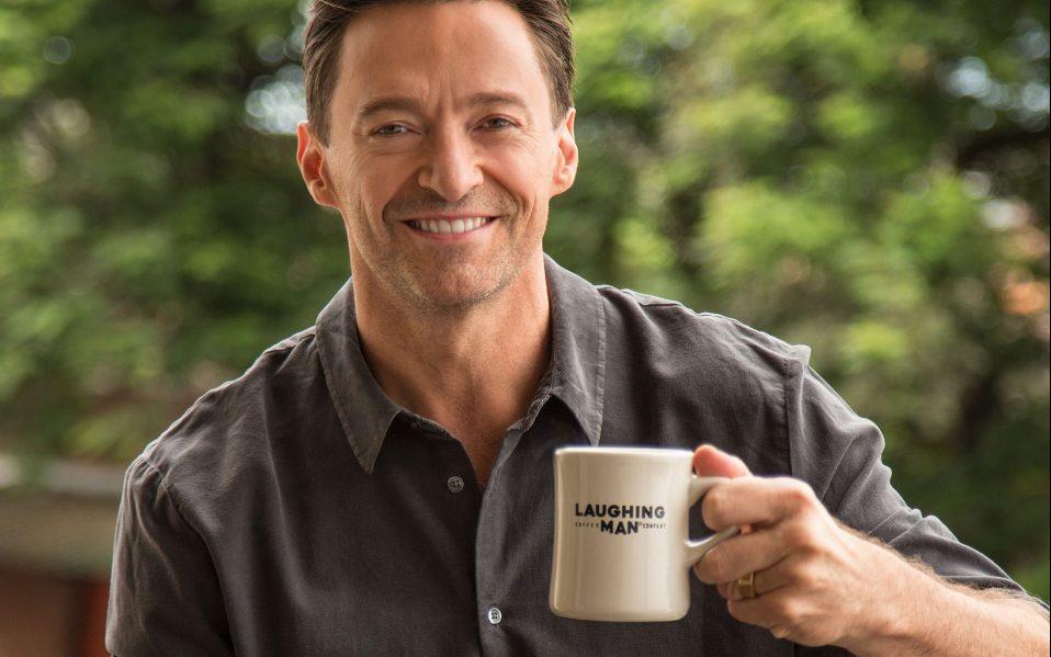 hugh jackman laughing man coffee review